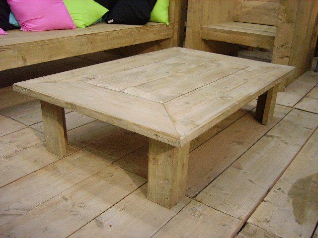 Steigerhout tafels bouwtekeningen en beschrijving hoe je for Bouwtekening tafel