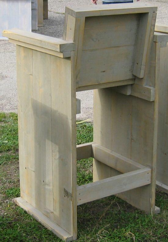 Stunning achterkant van de bar stoel van steigerhout with for Steigerhout praxis